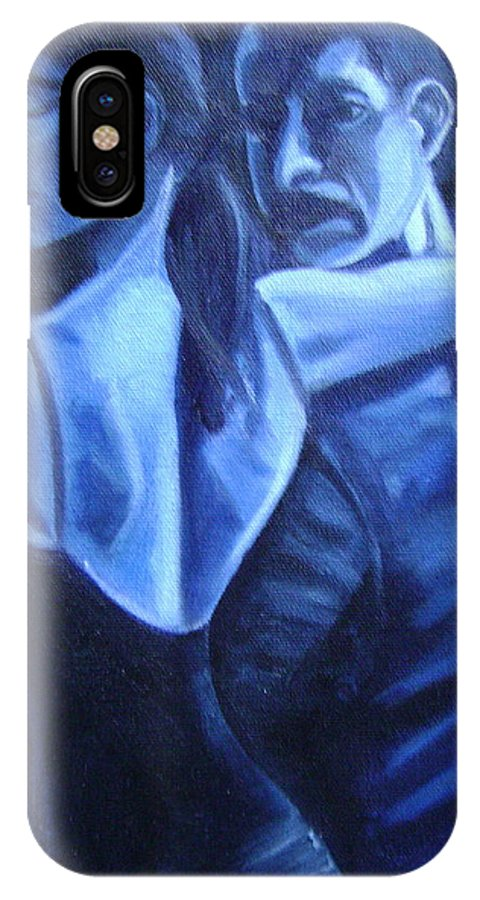 IPhone X Case featuring the painting Bludance by Toni Berry
