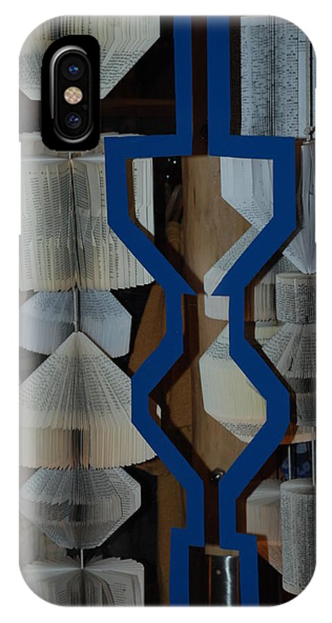 Window IPhone X Case featuring the photograph Blue And White by Rob Hans