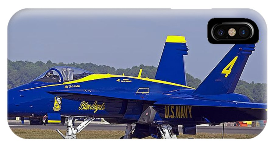 Jet IPhone X Case featuring the photograph Blue Angel by Kenneth Albin