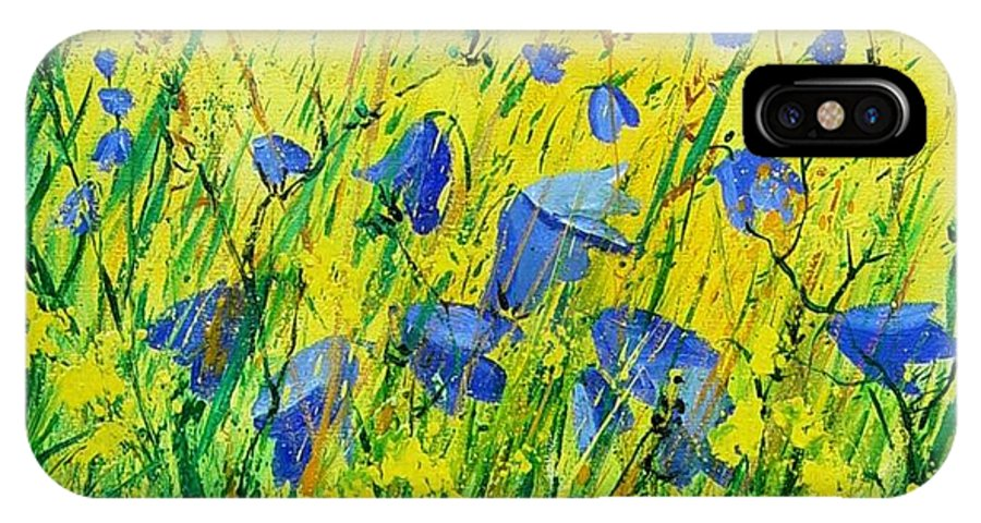Poppies IPhone Case featuring the painting Blue Bells by Pol Ledent