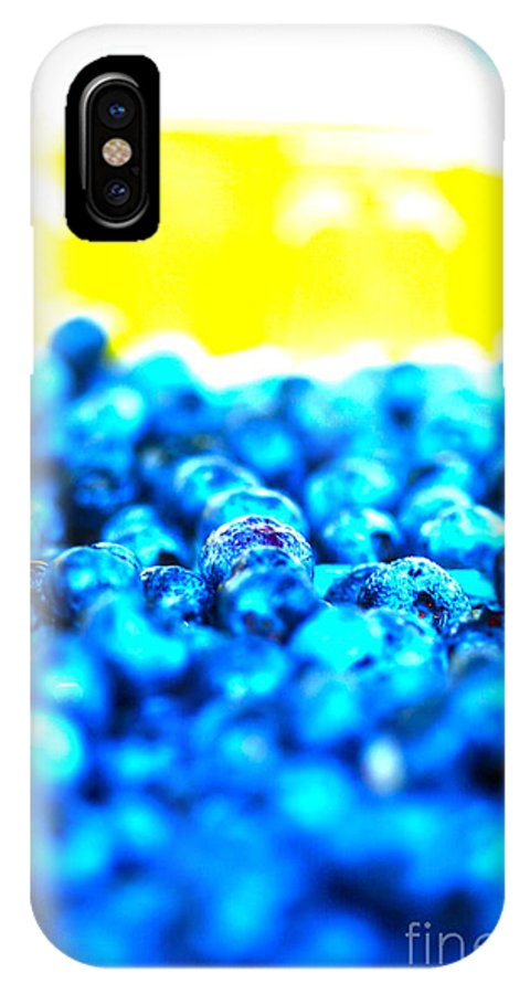Blue IPhone X Case featuring the photograph Blue Blur by Nadine Rippelmeyer