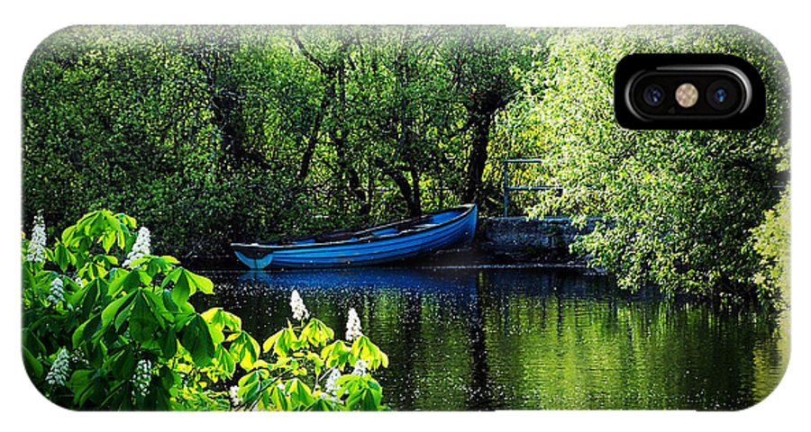Irish IPhone Case featuring the photograph Blue Boat Cong Ireland by Teresa Mucha