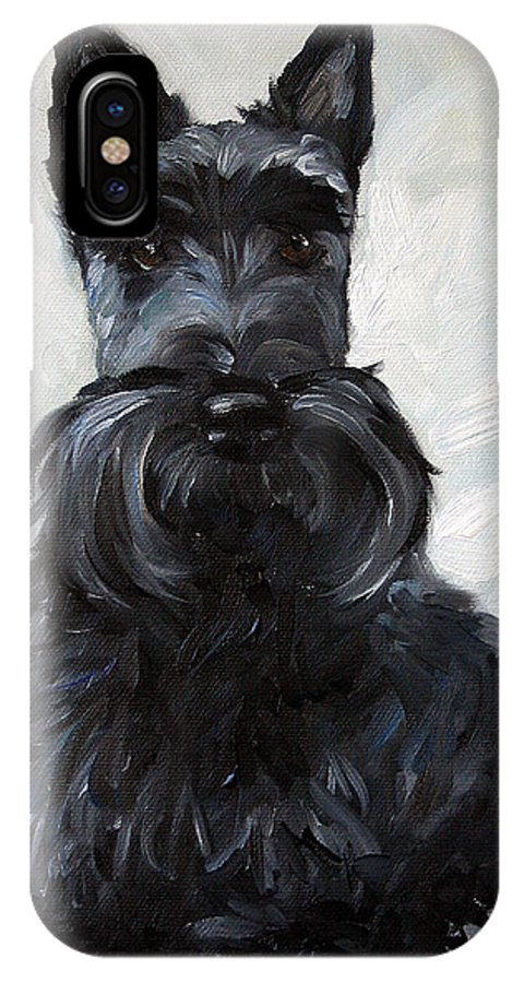 Art IPhone X Case featuring the painting Blue Boy by Mary Sparrow
