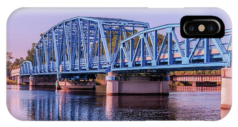 Blue Bridge IPhone X Case featuring the photograph Blue Bridge Georgia Florida Line by William Randolph