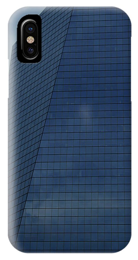 City IPhone Case featuring the photograph Blue Building by Linda Sannuti