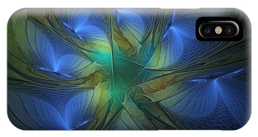 Digital Art IPhone Case featuring the digital art Blue Butterflies by Amanda Moore