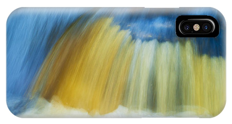 Aira Force IPhone X Case featuring the photograph Blue Cascade by Paul Cullen