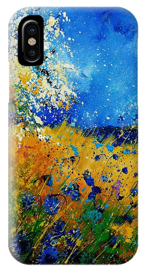 Poppies IPhone Case featuring the painting Blue Cornflowers 450108 by Pol Ledent