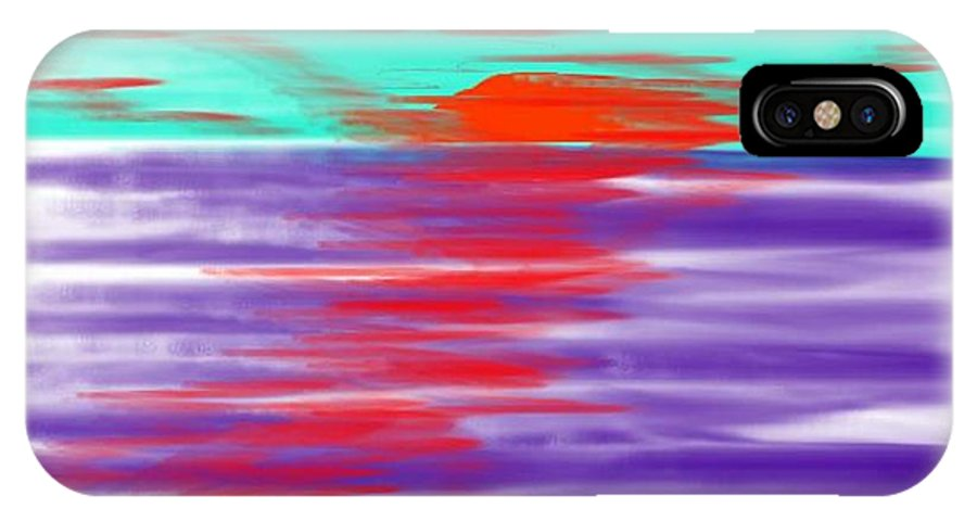 Sky.clouds.sun.sunrays.sunset.sea.water.reflection.slow Waves.deep Water.evening.rest.silence IPhone Case featuring the digital art Blue Deep Evening by Dr Loifer Vladimir
