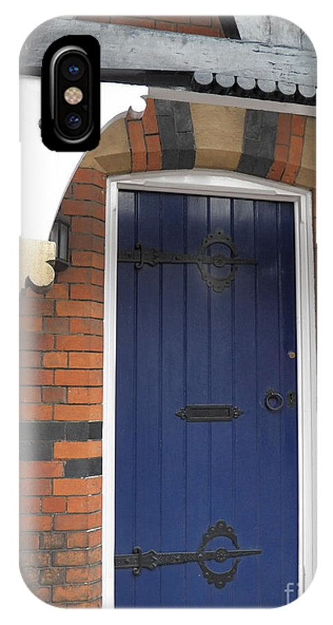 Pewsey Village And Civil Parish IPhone X / XS Case featuring the photograph Blue Door At 49 High by David A James