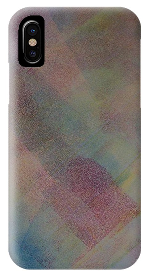 Abstract IPhone Case featuring the painting Blue by Emily Young