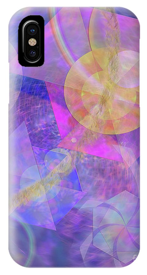 Blue Expectations IPhone Case featuring the digital art Blue Expectations by John Beck