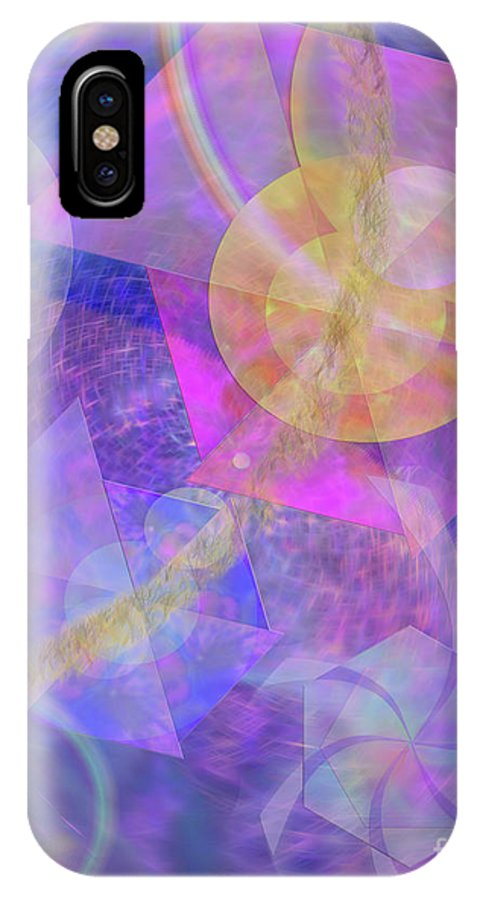 Blue Expectations IPhone X Case featuring the digital art Blue Expectations by John Beck