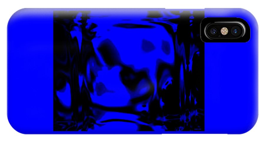 Aupre.com Hypermorphic Arthouse Unique Original Digital Art Made By The Hari Rama IPhone X Case featuring the painting Blue Fashion by The Hari Rama