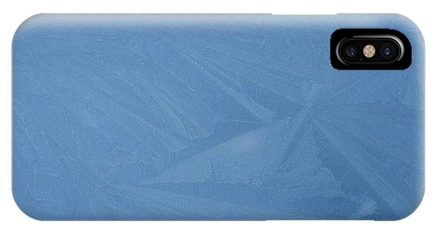 Blue IPhone Case featuring the photograph Blue Frost 1 by Paolo Marini