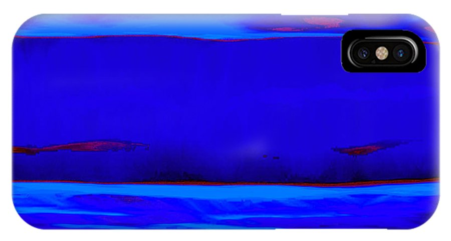 Blue IPhone X Case featuring the painting Blue Horizon by Vicky Brago-Mitchell