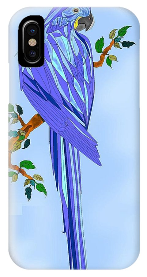 Blue Bird IPhone X Case featuring the painting BLue Hyacinth by Anne Norskog