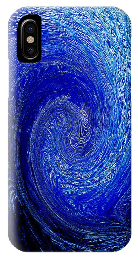 Blue IPhone Case featuring the photograph Blue Ice Twirl-1 by Steve Somerville