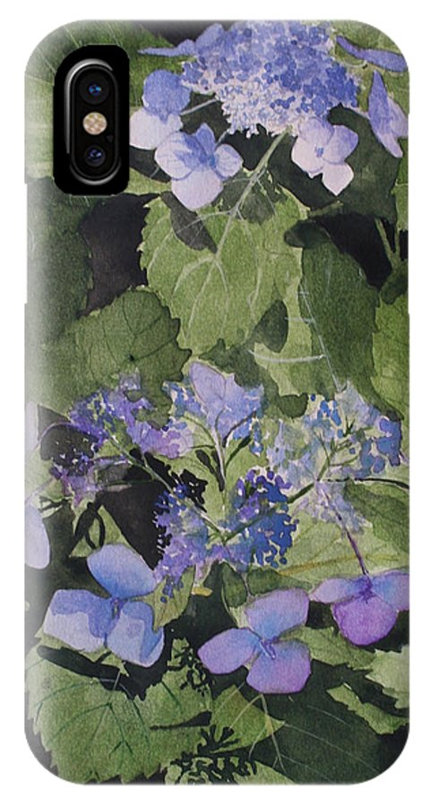 Flowers IPhone Case featuring the painting Blue Lace by Jean Blackmer