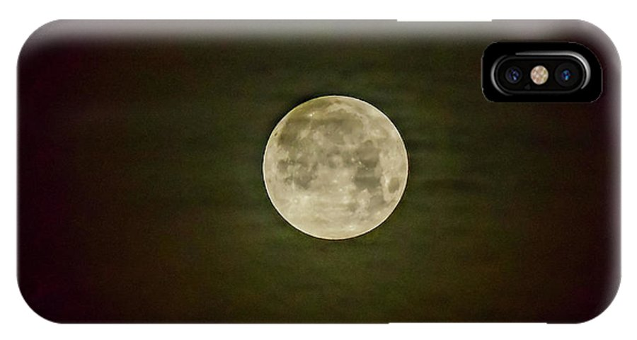 2018 IPhone X Case featuring the photograph Blue Moon by Dwain Patton