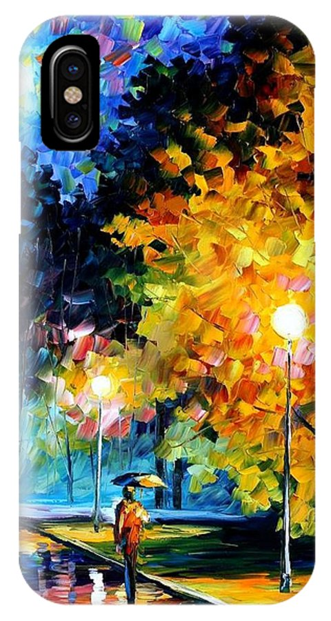 Afremov IPhone X Case featuring the painting Blue Moon by Leonid Afremov