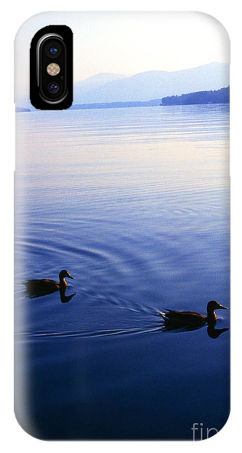 Lake George IPhone X Case featuring the photograph Blue Morning Lake George by Thomas R Fletcher
