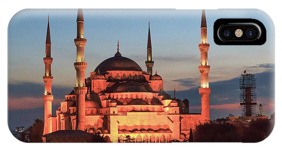 Asia IPhone X Case featuring the photograph Blue Mosque At Dusk by Emily M Wilson