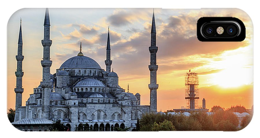 Asia IPhone X Case featuring the photograph Blue Mosque At Sunset by Emily M Wilson