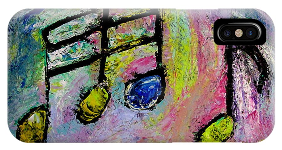 Impressionist IPhone X Case featuring the painting Blue Note by Anita Burgermeister