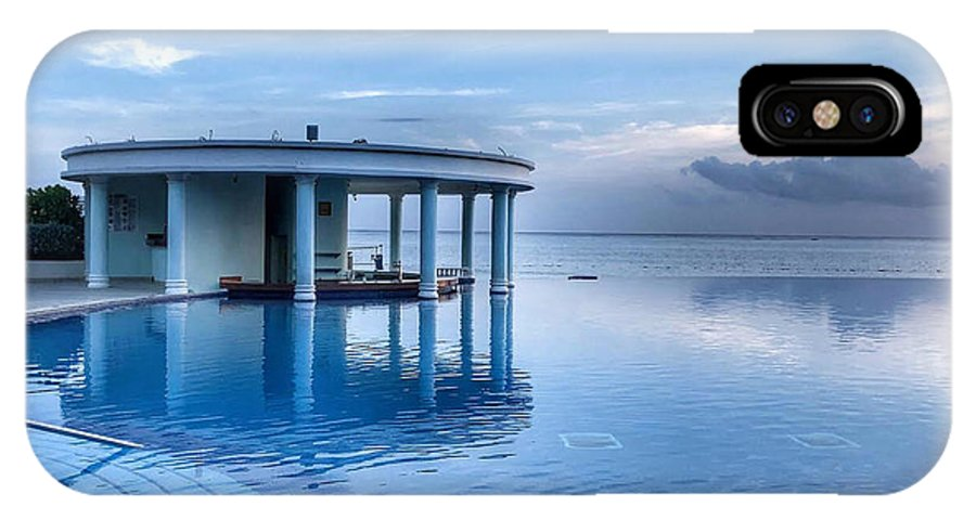 This Is A Photo In The Early Morning At Montego Bay Junior Suites IPhone X Case featuring the photograph Blue Pool by William Rogers