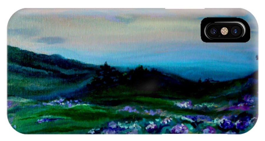 Blue Ridge Mountains IPhone X Case featuring the painting Blue Ridge by Devon Ingram