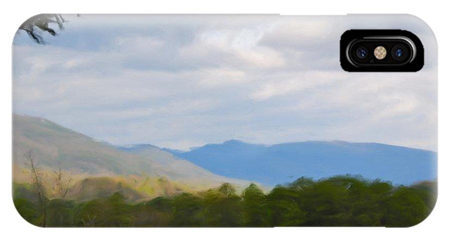 Blue Ridge Mountain IPhone X Case featuring the painting Blue Ridge Mountain by Jan Daniels