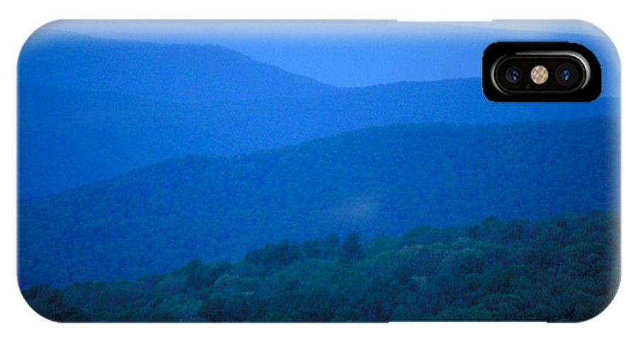 Mountains IPhone X Case featuring the photograph Blue Ridge Mountains by Carl Purcell