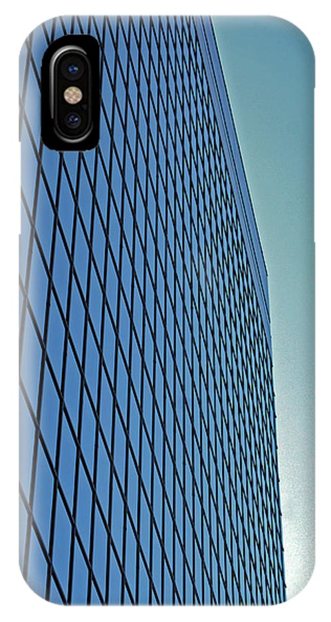 Chicago IPhone X Case featuring the photograph Blue Rise by Skip Willits