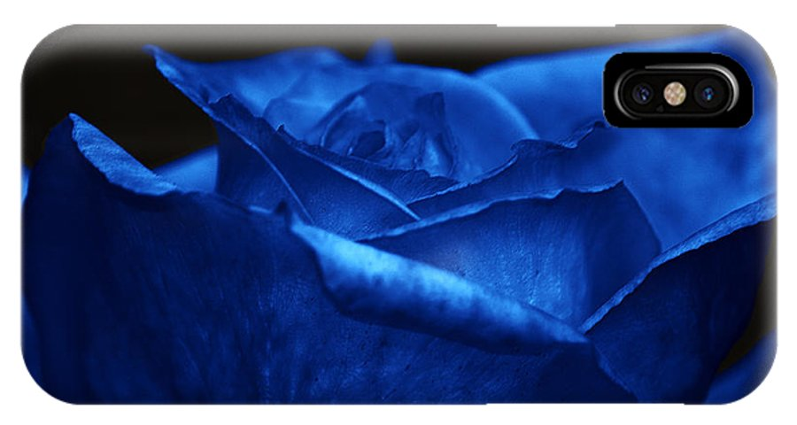 Clay IPhone X Case featuring the photograph Blue Rose by Clayton Bruster