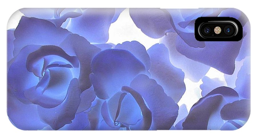 Blue IPhone Case featuring the photograph Blue Roses by Tom Reynen