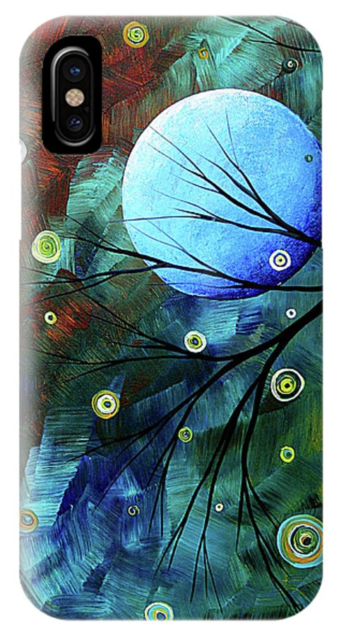 Art IPhone X Case featuring the painting Blue Sapphire 1 By Madart by Megan Duncanson