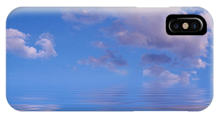 Original Art IPhone X Case featuring the photograph Blue Sky Reflections by Jerry McElroy