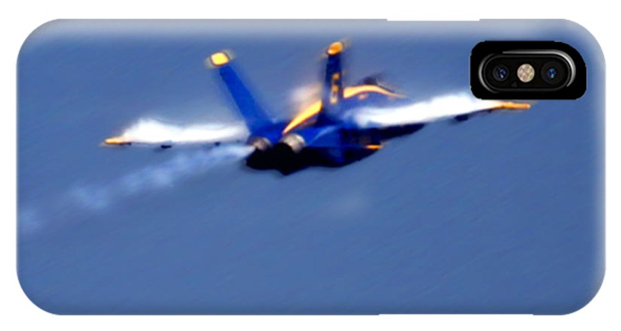 Blue Angles IPhone X Case featuring the photograph Blue Solo by Larry Keahey
