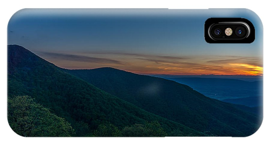 Sunset IPhone X / XS Case featuring the photograph Blue Sunset by Blaine Blasdell