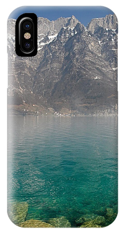 Alps IPhone X Case featuring the photograph Blue Swiss Lagoon by Pierre Leclerc Photography
