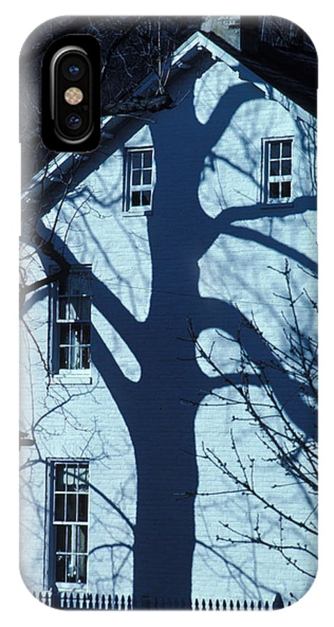 Tree IPhone X Case featuring the photograph Blue Tree House by Carl Purcell