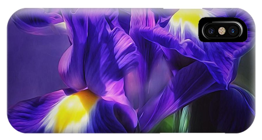 Floral IPhone X Case featuring the photograph Blue Velvet by Gabriella Weninger - David