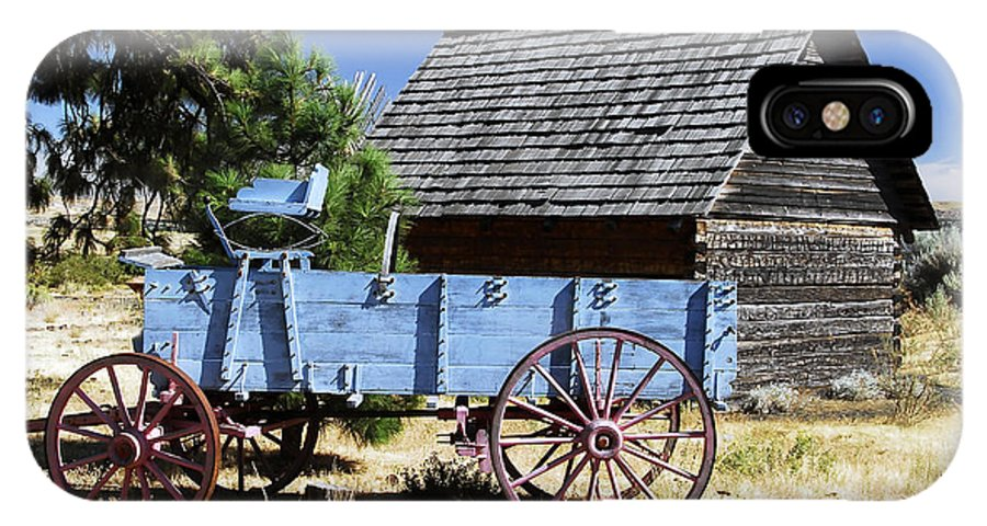 Wagon IPhone X Case featuring the photograph Blue Wagon by David Lee Thompson