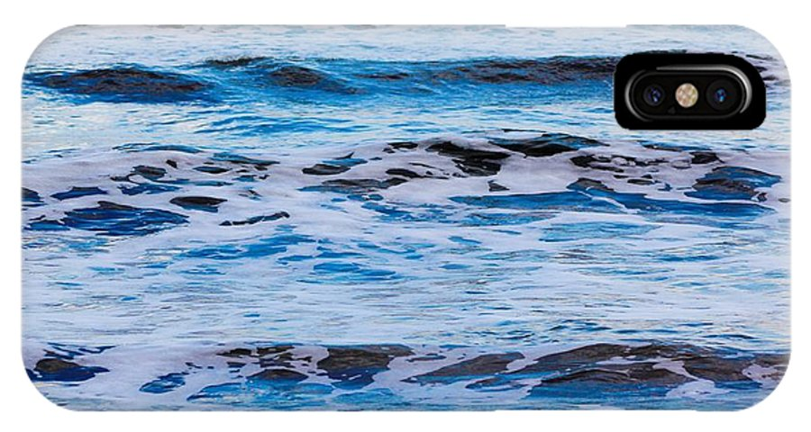 Waves IPhone X Case featuring the photograph Blue Waves by Modern Art
