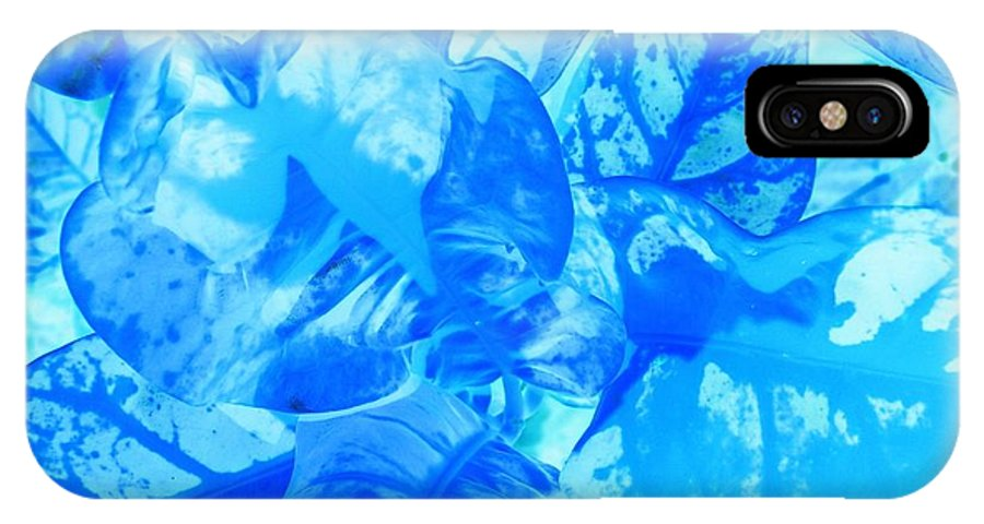 Contemporary IPhone X Case featuring the photograph Blue Whisper by Florene Welebny