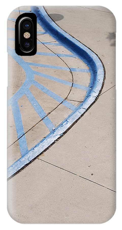 Blue IPhone X Case featuring the photograph Blue Zone by Rob Hans