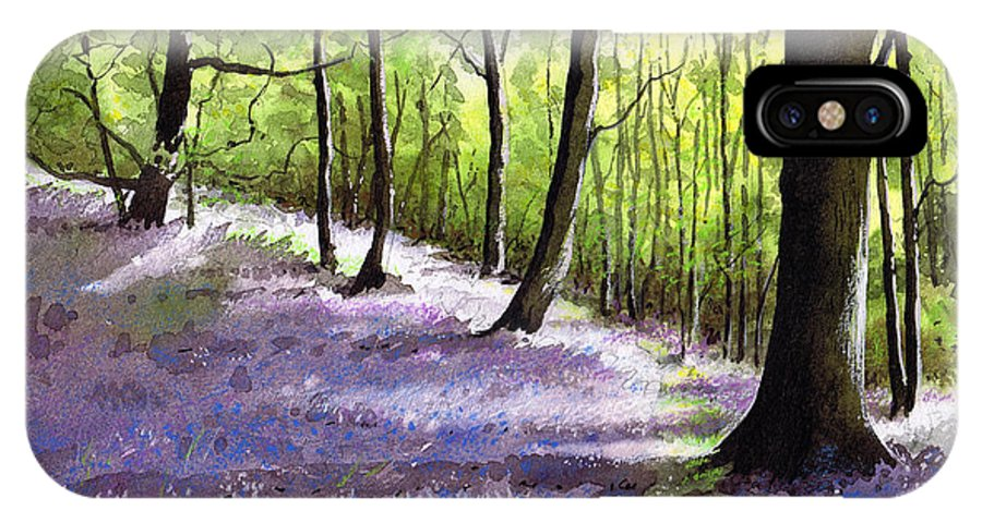 Bluebell IPhone X Case featuring the painting Bluebell Wood by Paul Dene Marlor