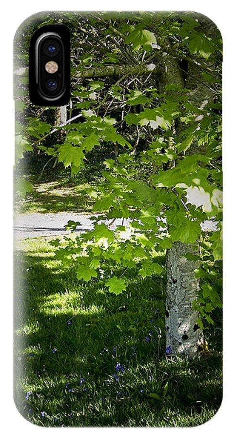 Irish IPhone X Case featuring the photograph Bluebells in Killarney National Park Ireland by Teresa Mucha