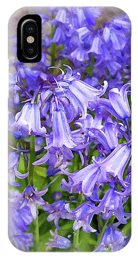 Flowers IPhone X Case featuring the photograph Bluebells by Judi Saunders